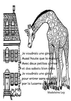 je voudrais une girafe Le Zoo, Continents, Petite Section, Image Categories, Camille, Education, Crocodile, Paris, French Tips