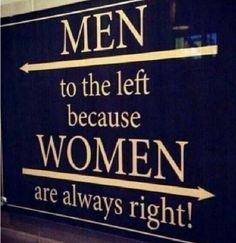 Have this sign on the wall between the man cave and girl cave