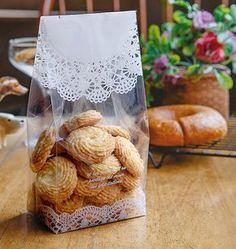 20 Servilleta impresa bolsas de galleta grande por CookieboxStore