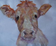 cow picture watercolour painting and pencil drawing by KPriceArt