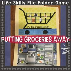 Putting Groceries Away Life Skills File Folder Game