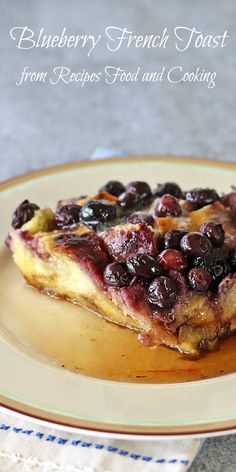 Blueberry French Toast French Bread, eggs. maple syrup, milk and blueberries are all you need to make this easy french toast that can be made ahead. #FreshFromFlorida #IC #ad