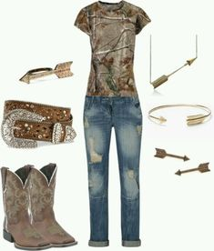 """""""Camo Girl"""" love everything about this outfit! Camo Outfits, Cowgirl Outfits, Cowgirl Style, Western Outfits, Western Wear, Fashion Outfits, Cowgirl Fashion, Cowgirl Clothing, Gypsy Cowgirl"""