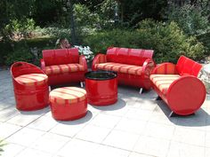 Drum Works Furniture specializes in custom made furniture from recycled 55 gallon steel drums that are custom finished to your specifications.