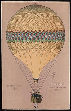 Le tricolore. lithograph. Paris : imp. E. Hamelin rue Fontaine au roi 59, 1874