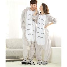 Cartoon Adult Unisex My Neighbor Totoro Onesies Hoodie Kigurumi Costume Pajamas