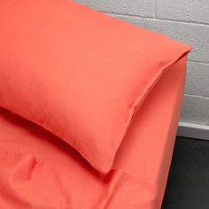 Maison Queen bed sheet set Neon Coral