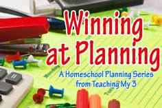 Good tips. Homeschool planning