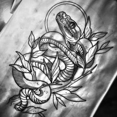 Lessons That Will Get You In The arms of The Man You love Traditional Snake Tattoo, Traditional Tattoo Design, Cobra Tattoo, 1 Tattoo, Time Tattoos, Sleeve Tattoos, Tattoo Sketches, Tattoo Drawings, Snake Sketch