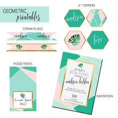 Geometric Bridal Sho