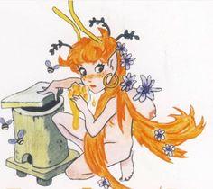 Un hada que visita las colmenas, personaje de la mitología cántabra.