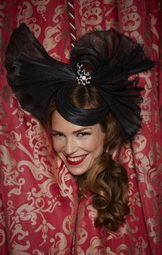 Black diva Couture Millinery, by Lock & Co Hatters.