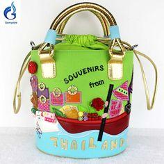 Таиланд девушка женщина сумки дизайнеры италия braccialini милые конфеты цвет весной и летом холщовый мешок сумки круглый сумка