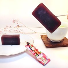 Tea Time and Toothpick with Origami Case!  https://www.etsy.com/jp/shop/SelectShopNORA   #origami #Japan #tea #sweets #paper #folding #art #greentea #sweetjelly #fun #like #cute #adornment