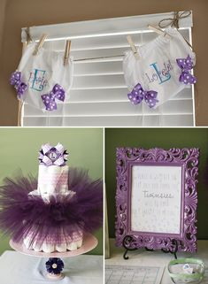 Lavender Better Together Twin Girls Baby Shower...such a cute shower!!!!