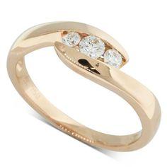 18ct Rose Gold .24ct Diamond Solstice Ring - Walker & Hall
