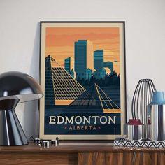 Edmonton, Alberta Illustration