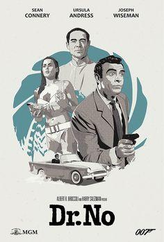 Dr. No alternative movie poster on Behance