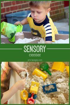 Sensory Bin Ideas for Preschool and Kindergarten Autism Preschool, Preschool Centers, Kindergarten Classroom, Toddler Preschool, Montessori Toddler, Classroom Decor, Kids Learning Activities, Sensory Activities, Infant Activities