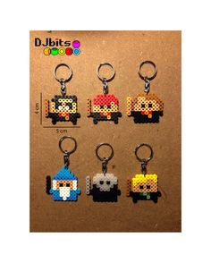 Harry Potter Keychains and Magnets Perler Beads by DJbits