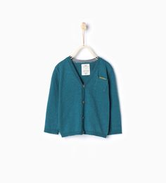 Knit cardigan with pocket-Sweaters & Cardigans-Baby boy (3 months - 3 years)-KIDS   ZARA United States