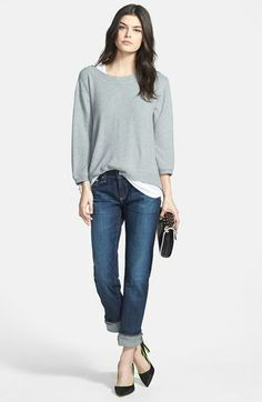 Take a look at the best what to wear with straight leg jeans in the photos below and get ideas for your outfits! Yes, that's right ladies, put those skinny jeans away and embrace… Continue Reading → Basic Outfits, Fall Outfits, Casual Outfits, Fashion Outfits, Women's Fashion, Jean Outfits, Work Outfits, Summer Outfits, Fashion Models