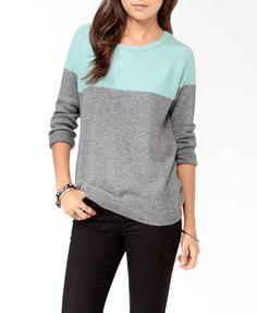 Colorblocked Raglan Sweater