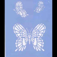 stencil tre farfalle