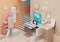 Home Office Decor on Behance