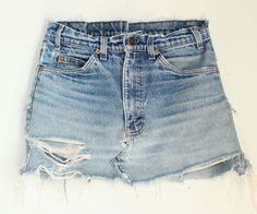 The vintage blue jean skirt that I made years ago & have worn to death!