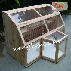 Hand made hamster cage from wood.