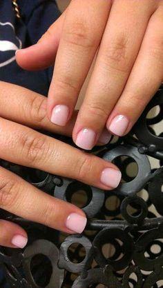 15 Short & Natural Nail Designs - Nails Tip Short Natural Nails, Short Gel Nails, Natural Hair, Love Nails, Fun Nails, Pretty Nails, Pink Manicure, Pink Acrylic Nails, Nail Pink