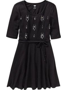 Girls Embellished Jersey Dresses Product Image