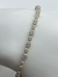 Bracelet en or jaune et diamants Bracelets, Or, Tennis, Jewelry, Yellow, Jewlery, Jewerly, Schmuck, Jewels