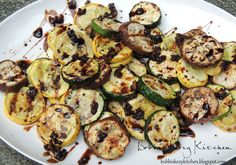 Grilled Veggies with Garlic Balsamic Reduction