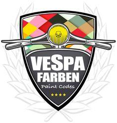 www.vespafarben.de logo Vespa 300, Vespa Sprint, Piaggio Vespa, Vespa Lambretta, Motor Scooters, Vespa Scooters, Vespa Helm, Badge Design, Logo Design