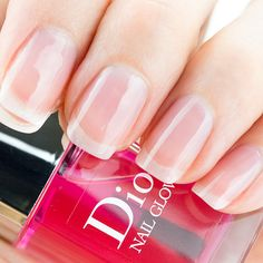 Dior-Nail-Glow-Swatch-2-Coats. This works amazing... My favorite feature of this brand is that the brush is rounded for easy application. Must buy!!! You can go with out a mani for months with these premium lacquers.   Also, It does change the color a smudge with the lighter colores.