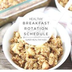 Healthy Breakfast Weekly Planner