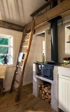 39 Ideas For Kitchen Appliances Layout Tiny House Küchen Design, House Design, Design Ideas, Interior Design, Small Cabin Designs, House Ideas, Small Loft, Tiny Loft, Small Small