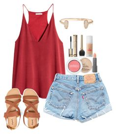 """""""Untitled #217"""" by emily-stichweh ❤ liked on Polyvore featuring moda, H&M, Guerlain, Benefit, Rimmel, Bare Escentuals, Easy Spirit y Kendra Scott"""