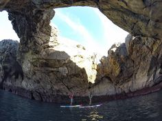 Sweet photo by @escuelaasturianadesurf | Exploring some caves by #paddleboard in Llanes, Spain Llanes is a traditional fishing port, with an active harbour and many notable monuments and traditions; one plaque commemorates the 65 sailors from Llanes who sailed on the three ships it fitted out for the Spanish Armada in 1588 (the Santa Ana,