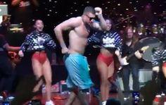 Rob Gronkowski shirtless party cruise