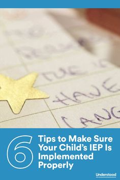 6 tips to make sure your childs iep is implemented properly