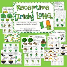 Speech Room News: St. Patrick's Day Receptive Language (Categories, Temporal Directions, WH Questions, Syn/Antonyms, Listening Comprehension) ((Giveaway on the Blog))