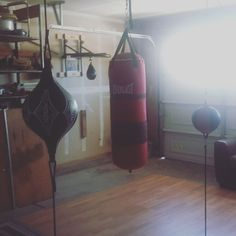My home boxing gym. Well part of it.