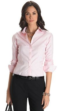 Lavender with white collar and cuffs by double r for her for No iron white shirt womens