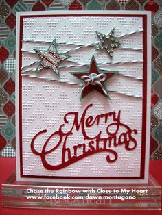 Christmas Card by lorraine Die Cut Christmas Cards, Simple Christmas Cards, Christmas Flyer, Homemade Christmas Cards, Handmade Christmas, Homemade Cards, Holiday Cards, Christmas Crafts, Merry Christmas