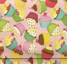 Babyville Boutique PUL P.U.L. Poly-Urethane Laminated Diaper Cover Water Resistant Fabric - Cupcake