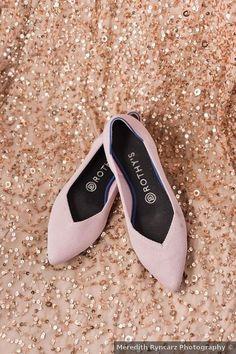 Wedding shoes ideas - bride, bridal, pink, close toe, heels, Rothys, blush {Meredith Ryncarz Photography}