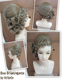 Long hair hasil karya saya dengan teknik (pivot point) : Braids  Bow, Loops dan  twist.